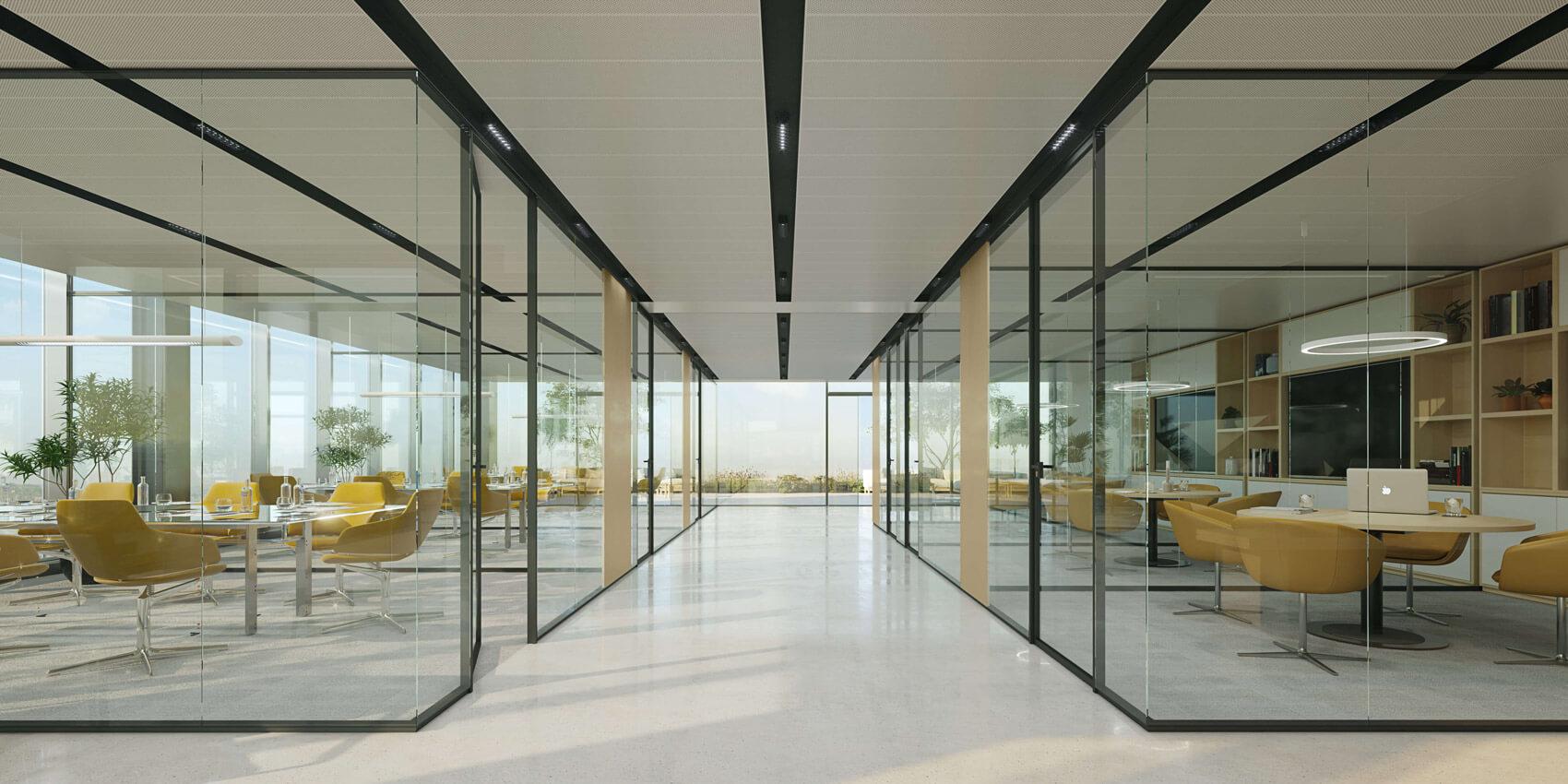 Zona clientes con salas de reuniones